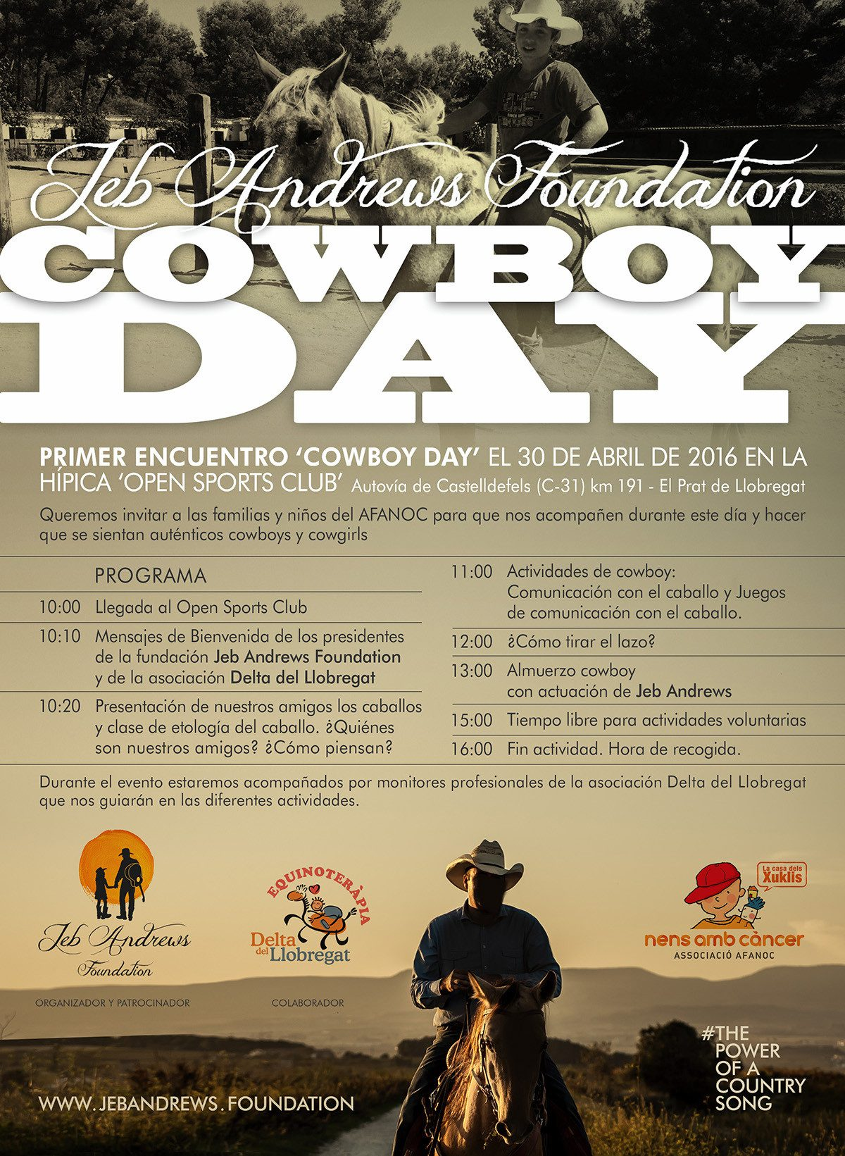 Primer Cowboy Day, organizado por la Jeb Andrews Foundation